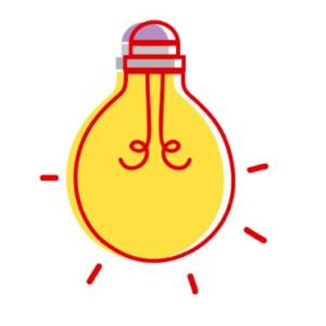 icona lampadina colori