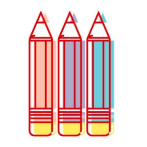 icona tre matite colori